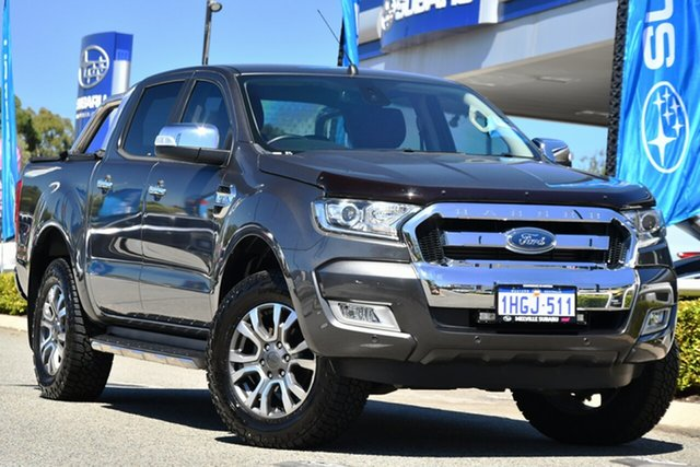 Used Ford Ranger PX MkII XLT Double Cab Melville, 2017 Ford Ranger PX MkII XLT Double Cab Grey 6 Speed Sports Automatic Utility