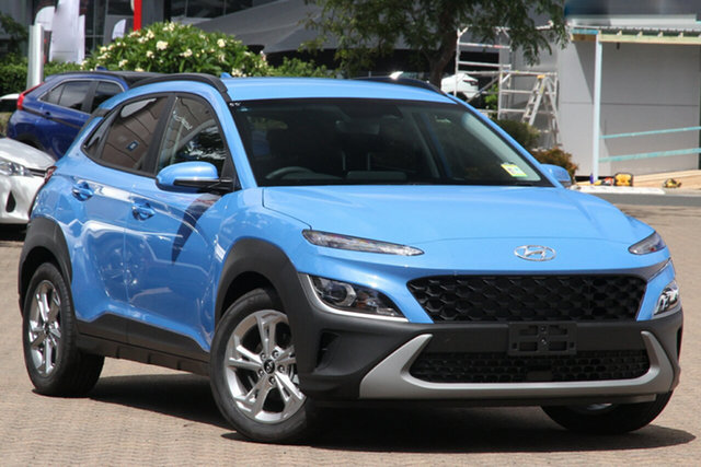 New Hyundai Kona Os.v4 MY21 Active 2WD Cheltenham, 2021 Hyundai Kona Os.v4 MY21 Active 2WD Surfy Blue 8 Speed Constant Variable Wagon