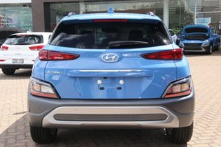 2020 Hyundai Kona Os.v4 MY21 Elite 2WD Surfy Blue 8 Speed Constant Variable Wagon