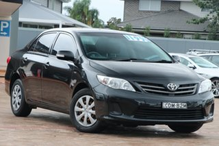 2011 Toyota Corolla ZRE152R MY11 Ascent Black 4 Speed Automatic Sedan.
