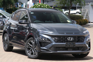 2020 Hyundai Kona Os.v4 MY21 N-Line D-CT AWD Premium Surfy Blue & Black Roof 7 Speed.
