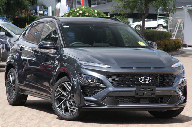 New Hyundai Kona Os.v4 MY21 N-Line D-CT AWD Premium Devonport, 2020 Hyundai Kona Os.v4 MY21 N-Line D-CT AWD Premium Ignite Flame & Black Roof 7 Speed