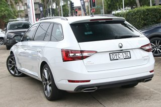 2018 Skoda Superb NP MY18.5 206 TSI Sportline White 6 Speed Direct Shift Wagon