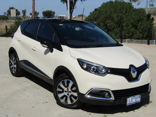 2017 Renault Captur J87 Expression EDC Ivory White 6 Speed Sports Automatic Dual Clutch Hatchback.