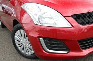 2016 Suzuki Swift FZ MY15 GL Red 4 Speed Automatic Hatchback.