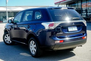 2013 Mitsubishi Outlander ZJ MY13 ES 2WD Blue 6 Speed Constant Variable Wagon.
