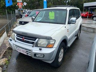 2000 Mitsubishi Pajero NM Exceed LWB (4x4) White 5 Speed Auto Sports Mode Wagon
