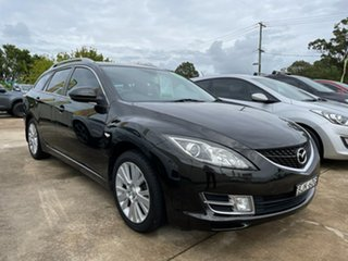 2009 Mazda 6 GH1051 MY09 Classic Black 5 Speed Sports Automatic Wagon.