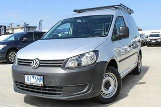 2014 Volkswagen Caddy 2KN MY14 TSI160 SWB Silver 5 Speed Manual Van.