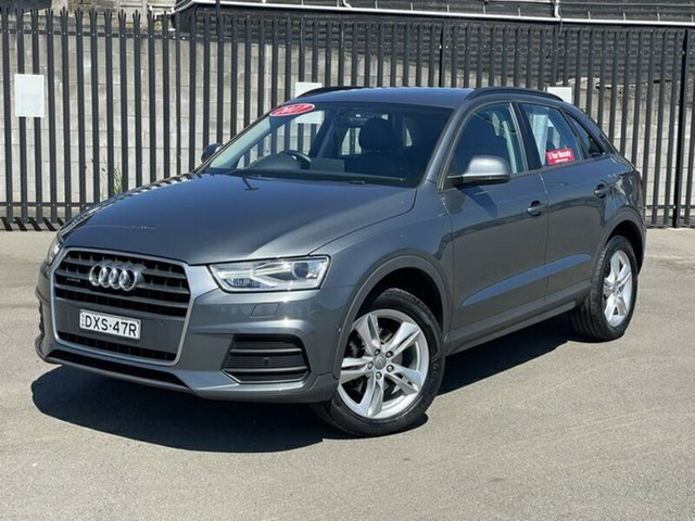 Used Audi Q3 8U MY17 TDI S Tronic Quattro Newcastle, 2017 Audi Q3 8U MY17 TDI S Tronic Quattro Grey 7 Speed Sports Automatic Dual Clutch Wagon
