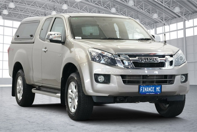 Used Isuzu D-MAX MY15.5 LS-U Space Cab Victoria Park, 2016 Isuzu D-MAX MY15.5 LS-U Space Cab Beige 5 Speed Sports Automatic Utility