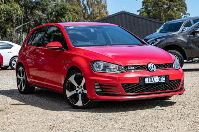 Used Volkswagen Golf VII MY15 GTI DSG Mornington, 2015 Volkswagen Golf VII MY15 GTI DSG Red 6 Speed Sports Automatic Dual Clutch Hatchback