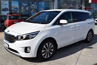 2016 Kia Carnival YP MY16 SLi White 6 Speed Sports Automatic Wagon.