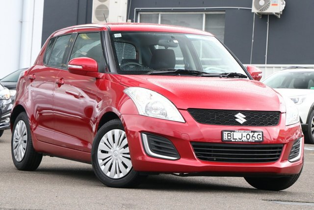 Used Suzuki Swift FZ MY15 GL Brookvale, 2016 Suzuki Swift FZ MY15 GL Red 4 Speed Automatic Hatchback