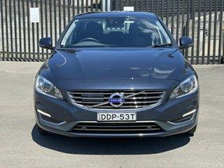 2014 Volvo S60 F Series MY14 D4 Geartronic Luxury Blue 6 Speed Sports Automatic Sedan.