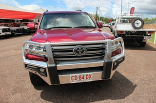 2019 Toyota Landcruiser VDJ200R Sahara Merlot Red 6 Speed Sports Automatic Wagon.