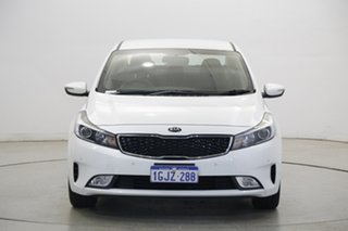 2017 Kia Cerato YD MY18 S Snow White Pearl 6 Speed Sports Automatic Sedan.