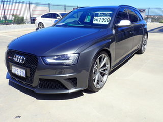 2013 Audi RS 4 8K MY14 Avant Quattro Dark Gun Metal 7 Speed Auto Direct Shift Wagon.