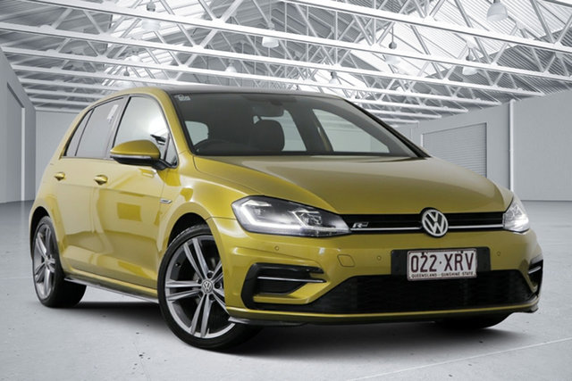 Used Volkswagen Golf AU MY17 110 TSI Highline Eagle Farm, 2017 Volkswagen Golf AU MY17 110 TSI Highline Tumeric Yellow 7 Speed Auto Direct Shift Hatchback