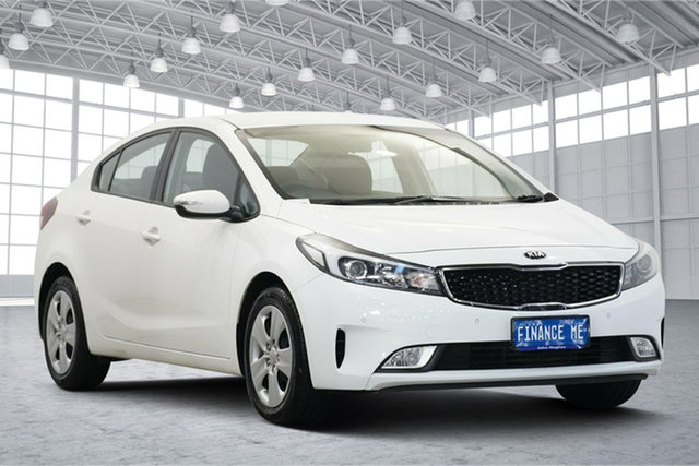 Used Kia Cerato YD MY18 S Victoria Park, 2018 Kia Cerato YD MY18 S White 6 Speed Sports Automatic Sedan