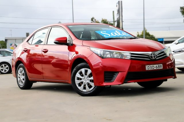 Used Toyota Corolla ZRE172R Ascent S-CVT Kirrawee, 2016 Toyota Corolla ZRE172R Ascent S-CVT Red 7 Speed Constant Variable Sedan