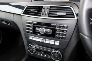 2011 Mercedes-Benz C-Class C204 C180 BlueEFFICIENCY 7G-Tronic + Black 7 Speed Sports Automatic Coupe