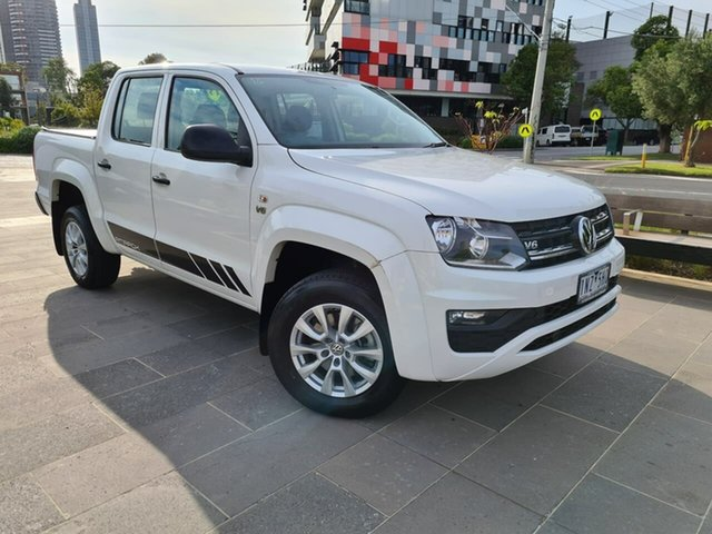 Used Volkswagen Amarok 2H MY18 TDI550 4MOTION Perm Core South Melbourne, 2018 Volkswagen Amarok 2H MY18 TDI550 4MOTION Perm Core White 8 Speed Automatic Utility