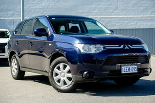 2013 Mitsubishi Outlander ZJ MY13 ES 2WD Blue 6 Speed Constant Variable Wagon