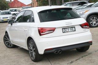 2015 Audi A1 8X MY15 Sportback 1.4 TFSI Sport White 7 Speed Auto Direct Shift Hatchback.