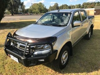 2016 Holden Colorado RG MY16 LS (4x4) Silver 6 Speed Automatic Crew Cab Pickup.