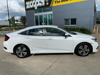 2019 Honda Civic 10th Gen MY19 VTi-L White/150920 1 Speed Constant Variable Sedan.