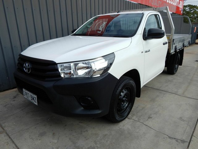 Used Toyota Hilux TGN121R Workmate 4x2 Blair Athol, 2016 Toyota Hilux TGN121R Workmate 4x2 White 5 Speed Manual Cab Chassis