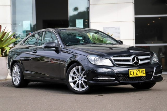 Used Mercedes-Benz C-Class C204 C180 BlueEFFICIENCY 7G-Tronic + Sutherland, 2011 Mercedes-Benz C-Class C204 C180 BlueEFFICIENCY 7G-Tronic + Black 7 Speed Sports Automatic Coupe