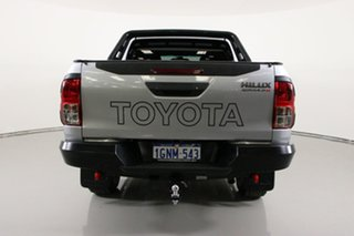 2018 Toyota Hilux GUN126R Rugged X (4x4) Silver 6 Speed Manual Dual Cab Utility