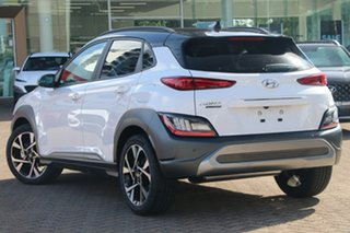 2020 Hyundai Kona Os.v4 MY21 Highlander TTR (FWD) Pulse Red & Black Roof Continuous Variable Wagon.