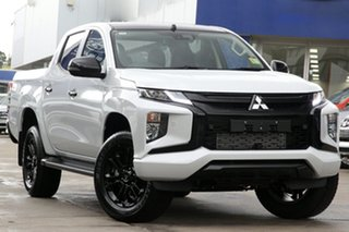 2021 Mitsubishi Triton MR MY21 GSR Double Cab White Diamond 6 Speed Sports Automatic Utility.