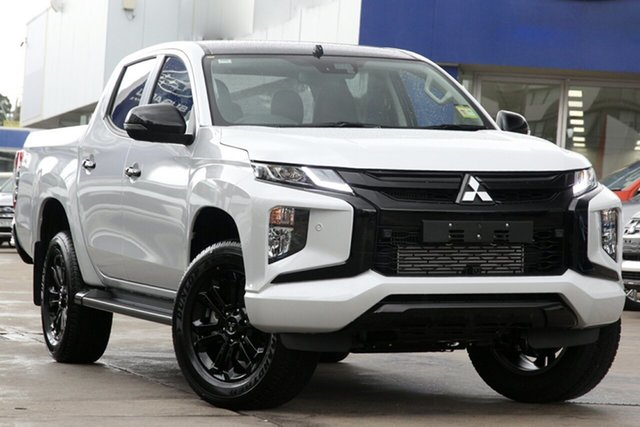New Mitsubishi Triton MR MY21 GSR Double Cab Parramatta, 2021 Mitsubishi Triton MR MY21 GSR Double Cab White Diamond 6 Speed Sports Automatic Utility