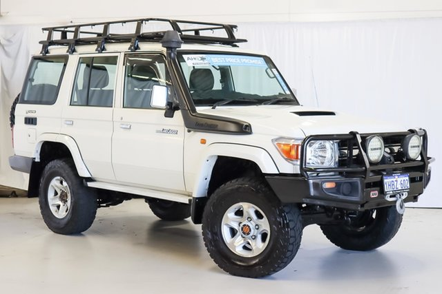 Used Toyota Landcruiser VDJ76R MY10 GXL Wangara, 2011 Toyota Landcruiser VDJ76R MY10 GXL White 5 Speed Manual Wagon