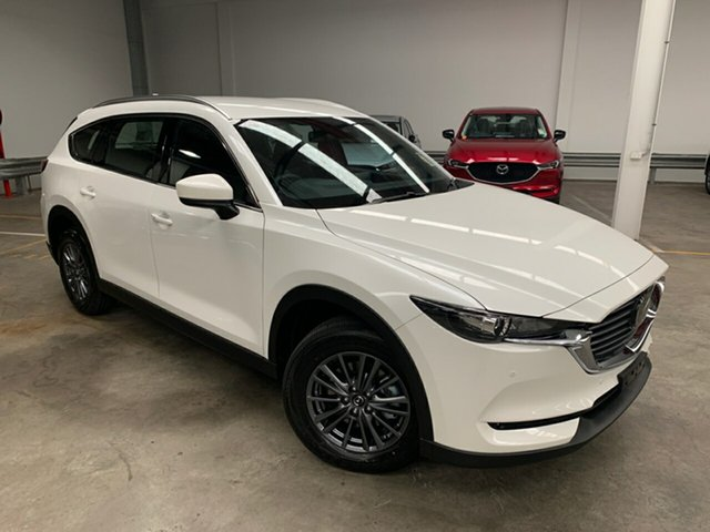 New Mazda CX-8 KG4W2A Touring SKYACTIV-Drive i-ACTIV AWD Alexandria, 2020 Mazda CX-8 KG4W2A Touring SKYACTIV-Drive i-ACTIV AWD Snowflake White 6 Speed Sports Automatic