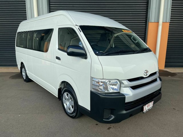 Used Toyota HiAce TRH223R Commuter High Roof Super LWB Winnellie, 2017 Toyota HiAce TRH223R Commuter High Roof Super LWB White 6 Speed Automatic Bus