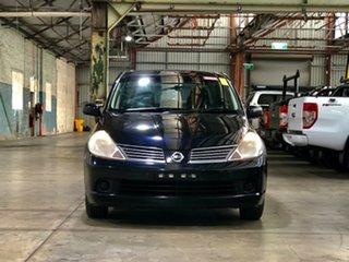 2006 Nissan Tiida C11 ST-L Black 6 Speed Manual Sedan.