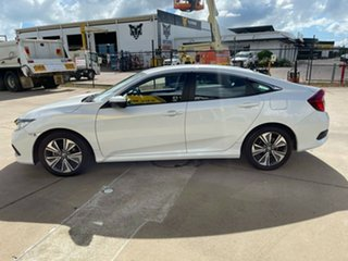 2019 Honda Civic 10th Gen MY19 VTi-L White/150920 1 Speed Constant Variable Sedan