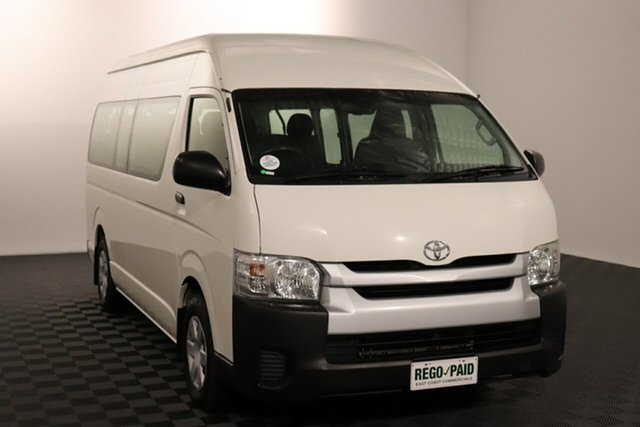 Used Toyota HiAce TRH223R Commuter High Roof Super LWB Acacia Ridge, 2015 Toyota HiAce TRH223R Commuter High Roof Super LWB French Vanilla 6 speed Automatic Bus