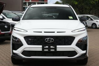 2020 Hyundai Kona Os.v4 MY21 N-Line D-CT AWD Atlas White 7 Speed Sports Automatic Dual Clutch Wagon