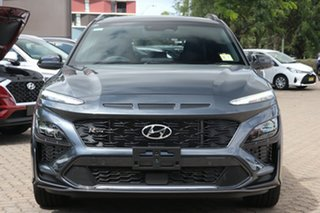 2020 Hyundai Kona Os.v4 MY21 N-Line D-CT AWD Premium Surfy Blue & Black Roof 7 Speed