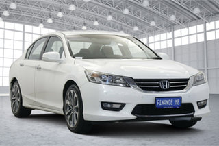 2014 Honda Accord 9th Gen MY14 V6L White 6 Speed Sports Automatic Sedan.