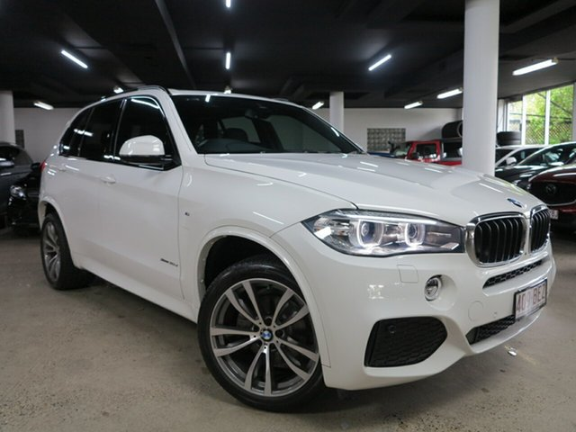Used BMW X5 F15 xDrive30d Albion, 2014 BMW X5 F15 xDrive30d Alpine White 8 Speed Sports Automatic Wagon