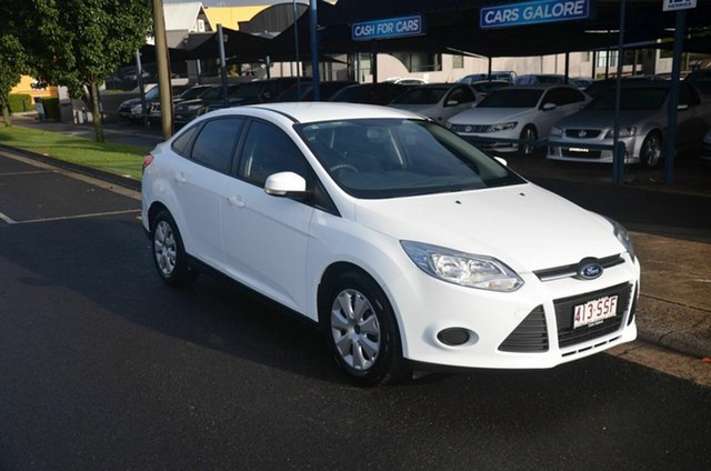 Used Ford Focus LW Trend Toowoomba, 2012 Ford Focus LW Trend White 6 Speed Automatic Sedan