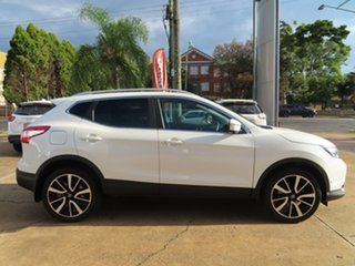 2017 Nissan Qashqai J11 MY18 TI White Continuous Variable Wagon.
