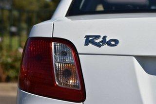 2009 Kia Rio JB MY07 EX White 4 Speed Automatic Sedan